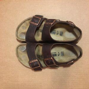Women's Birkenstock Milano Oiled Leather Sandals